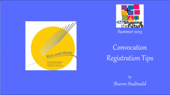 Convocation Registration Tips