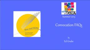 Convocation FAQs