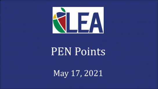 PEN Points - May 17, 2021