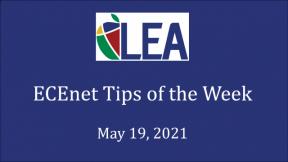 ECEnet Tips of the Week - May 19, 2021