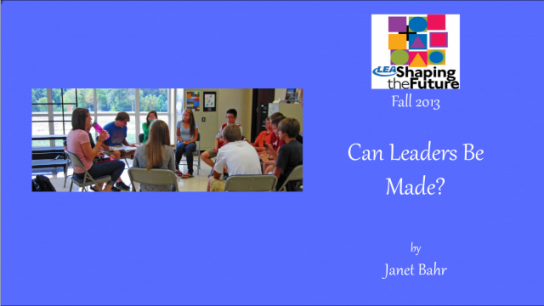 Can Leaders Be Made
