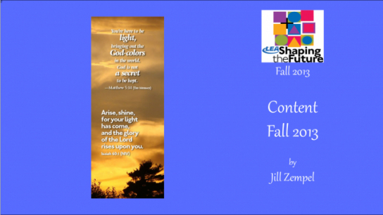 Content Fall 2013