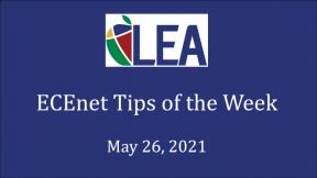 ECEnet Tips of the Week - May 26, 2021