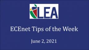 ECEnet Tips of the Week - June 2, 2021
