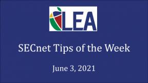 SECnet Tips of the Week - June 3, 2021