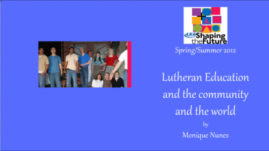 Lutheran Education and the Community and the World