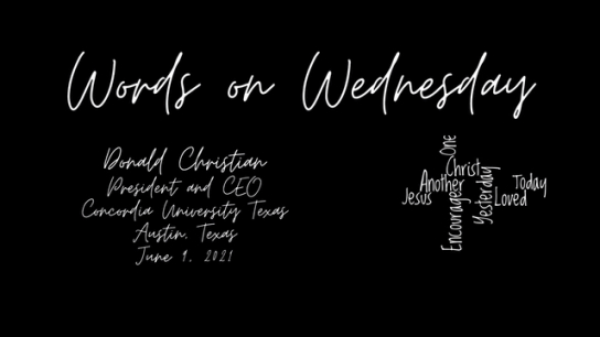 Words on Wednesday - June 9, 2021