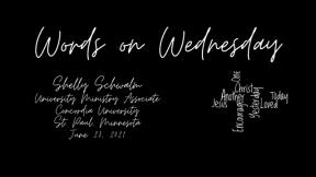 Words on Wednesday - June 23, 2021
