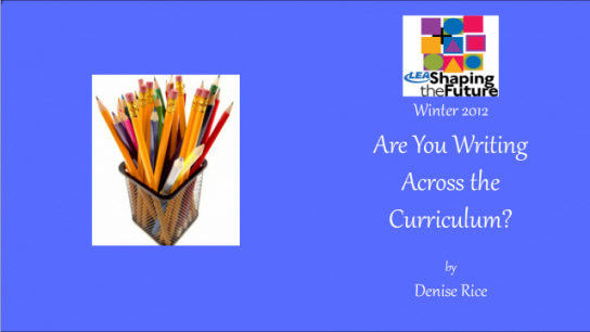 Are You Writing Across the Curriculum?
