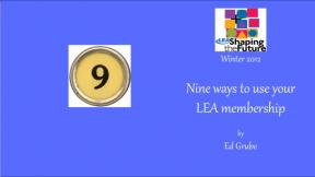 Nine ways to use your LEA membership