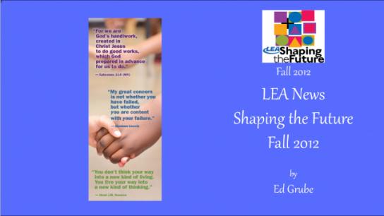 LEA News Shaping the Future Fall 2012
