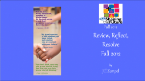 Review, Reflect, Resolve Fall 2012