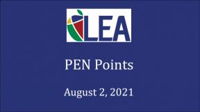 PEN Points - August 2, 2021