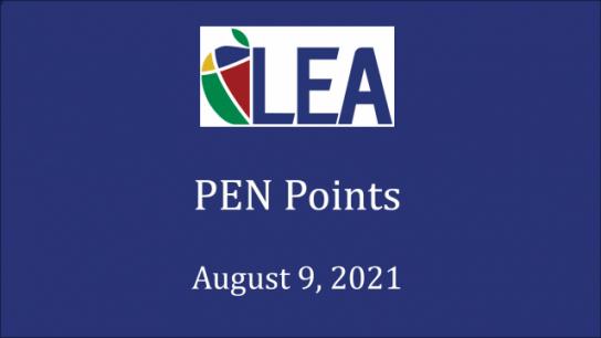 PEN Points - August 9, 2021