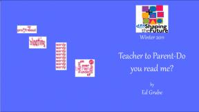 Teacher to Parent-Do you read me?