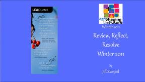Review, Reflect, Resolve Winter 2011