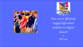 How can we effectively engage high school students in religion classes