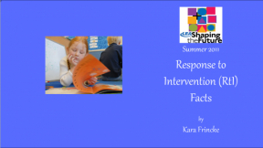 Response to Intervention (RtI) Facts