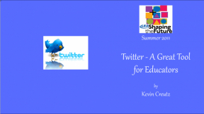 Twitter - A Great Tool for Educators