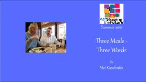 Three Meals - Three Words