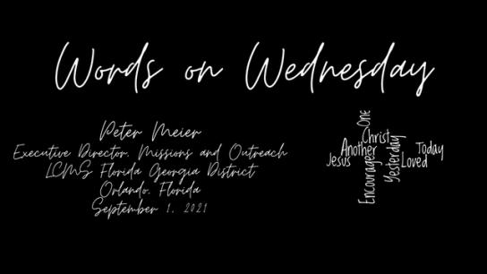 Words on Wednesday - September 1, 2021