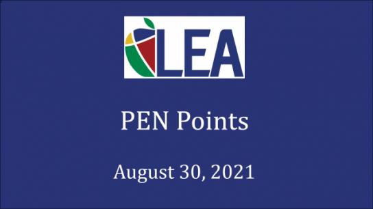 PEN Points - August 30, 2021