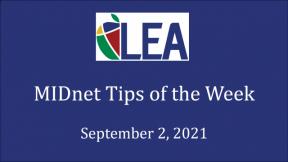 MIDnet Tips of the Week - September 2, 2021