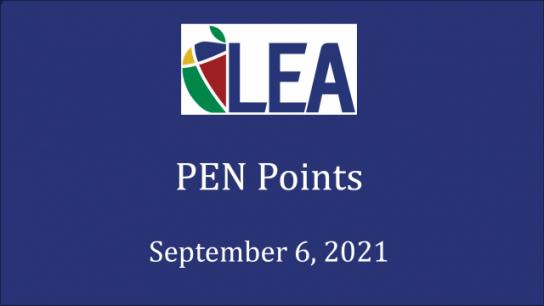 PEN Points - September 6, 2021