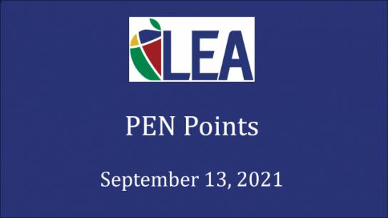 PEN Points - September 13, 2021