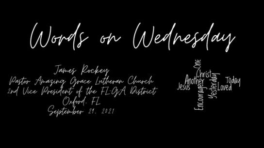 Words on Wednesday - September 29, 2021