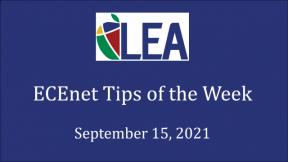 ECEnet Tips of the Week - September 15, 2021