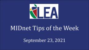 MIDnet Tips of the Week - September 23, 2021