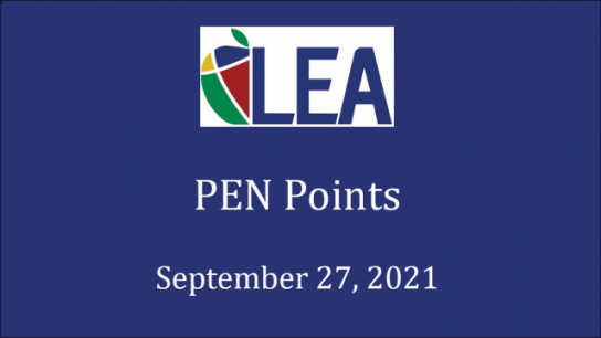 PEN Points - September 27, 2021