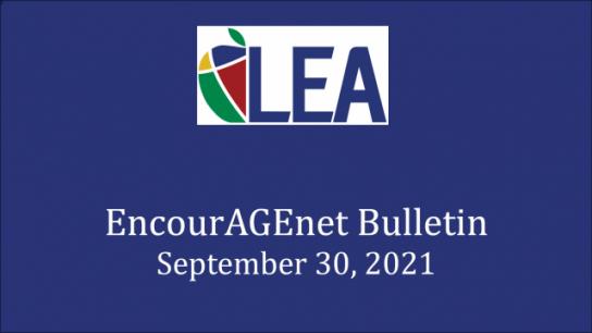 EncourAGEnet Bulletin - September 30, 2021