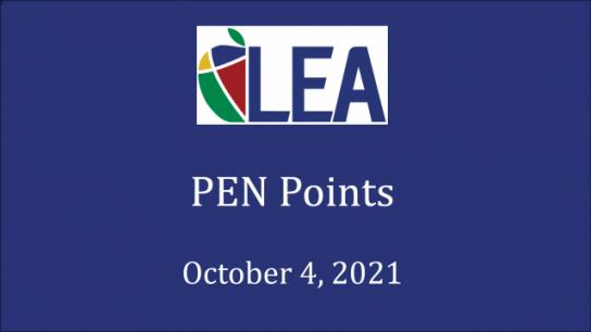PEN Points - October 4, 2021
