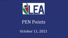 PEN Points - October 11, 2021