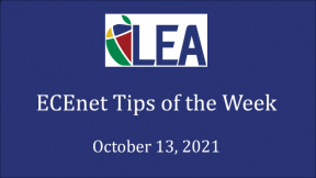 ECEnet Tips of the Week - October 13, 2021