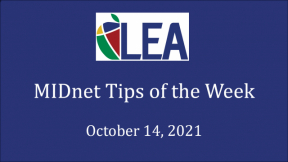 MIDnet Tips of the Week - October 14, 2021