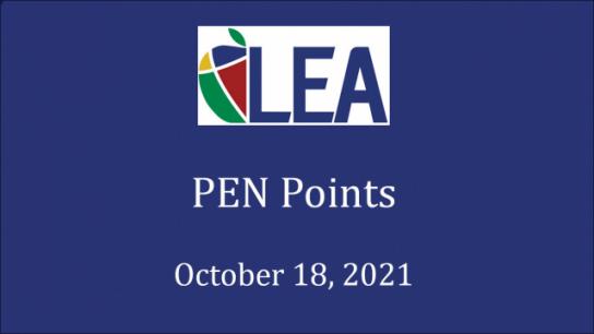 PEN Points - October 18, 2021